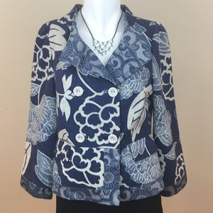 Anthropologie Elevenses Floral Ikebana Jacket 4